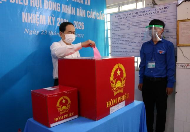 Phó Chủ tịch Thường trực Quốc hội Trần Thanh Mẫn bỏ phiếu tại Cần Thơ ảnh 4
