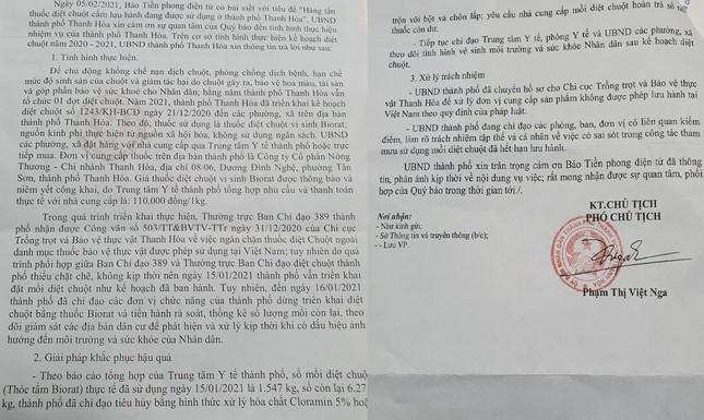 Sử dụng thuốc diệt chuột bị cấm tại TP Thanh Hóa: Xử lý trách nhiệm ra sao? ảnh 1