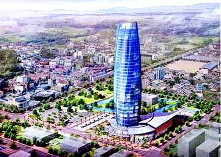 Mô hình thiết kế công trình Trung tâm Hành chính thành phố Đà Nẵng