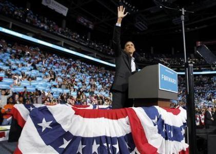 Ông Obama vẫy tay chào người ủng hộ mình tại Columbus, bang Ohio hôm 5-11