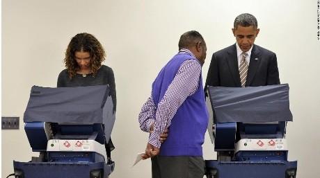 Ông Obama đi bầu