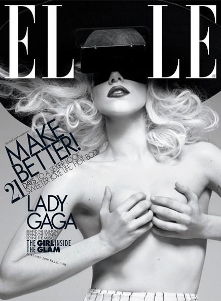 Tạp chí Elle, thể hiện: Ca sĩ lập dị Lady Gaga, nhiếp ảnh gia Tom Munro