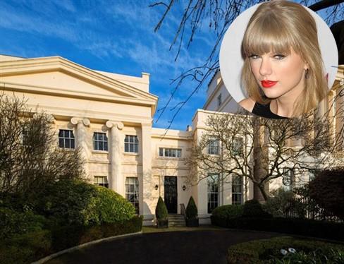 Taylor Swift (ảnh nhỏ) và khu biệt thự trị giá gần 500 tỷ đồng
