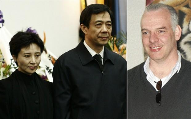 Ông Neil Heywood (phải) bị vợ ông Bạc Hy Lai, tức bà Cốc Khai Lai đầu độc hồi tháng 11 năm ngoái
