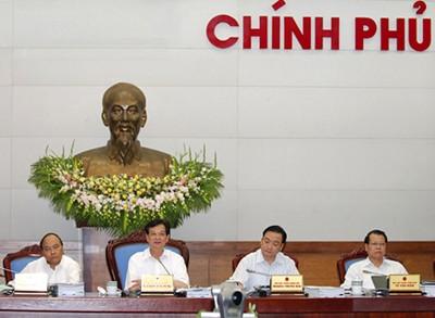 Thủ tướng chủ trì phiên họp chuyên đề xây dựng pháp luật của Chính phủ (ảnh: Chinhphu.vn)