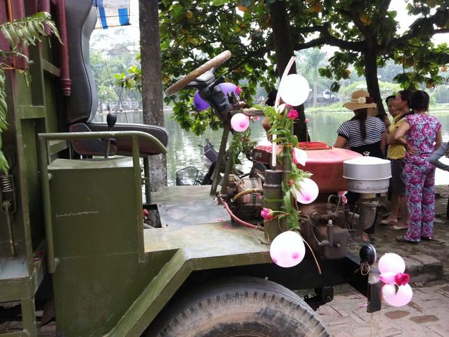 Đầu chiếc xe công nông được trang trí đẹp mắt