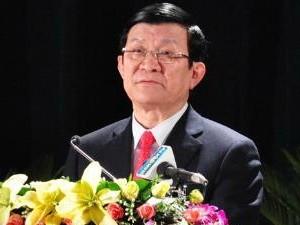 Chủ tịch nước Trương Tấn Sang. (Nguồn: TTXVN)