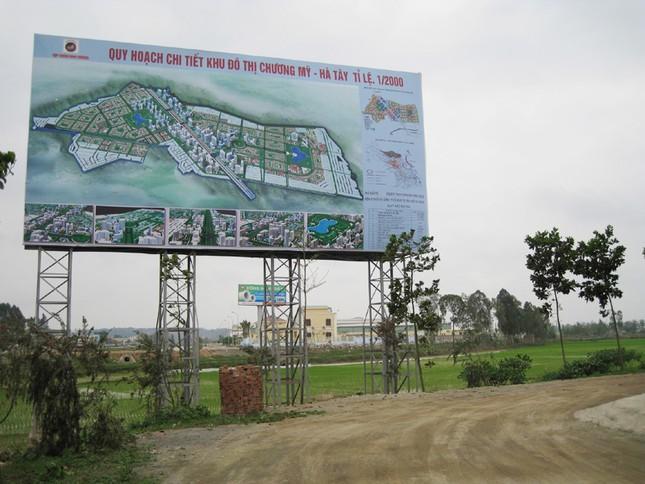 Trước khi hợp nhất, tỉnh Hà Tây đã giao 1.850 ha đất làm khu đô thị cho Tập đoàn Nam Cường để đổi lấy công trình BT 63 km đường Ảnh: Nguồn KĐT Chương Mỹ
