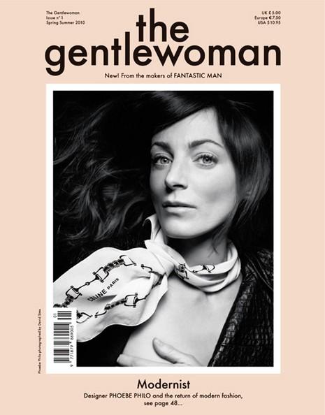 Gương mặt Phoebe Philo trên trang bìa tạp chí The Gentlewoman, nhiếp ảnh gia David Sims