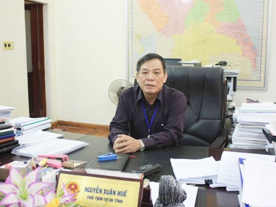 Ông Nguyễn Xuân Huế, Chủ tịch UBND tỉnh Quảng Ngãi
