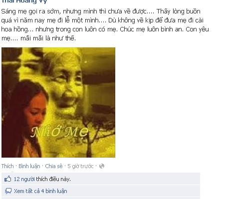 Một trong số nhiều cảm xúc trong ngày lễ Vu Lan trên Facebook
