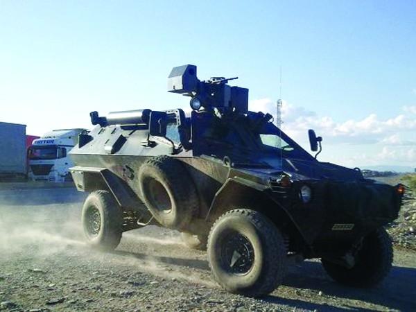 Xe bọc thép của quân đội Thổ Nhĩ Kỳ được triển khai đến vùng biên giới với Syria. Ảnh: Anatolia