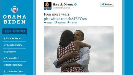Bức ảnh ông Obama đăng trên Twitter với tự đề
