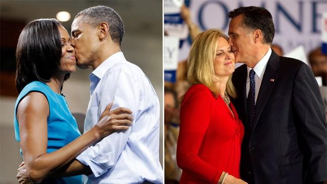 """Phu nhân của hai ứng viên tổng thống Mỹ là """"hậu phương vững chắc"""", luôn hỗ trợ chồng trong các sự kiện quan trọng. Bà Michelle từng được bình chọn là một trong 10 phụ nữ quyền lực nhất thế giới năm 2011 với nhiều hoạt động lớn. Bà Ann Romney cũng được đánh giá cao bởi những hoạt động trong việc phòng chống bệnh tật ở phụ nữ và các hoạt động từ thiện cho trẻ em"""