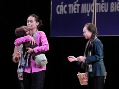 Một tiết mục Sân khấu học đường ở Nhà hát Lớn. Ảnh: Lương Anh