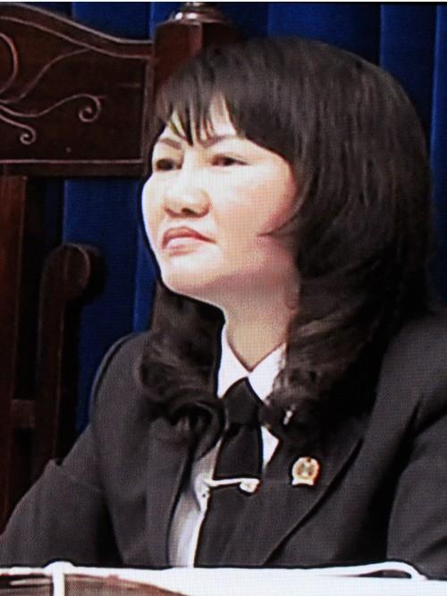 Thẩm phán Trần Thị Thu Hà, chủ tọa phiên tòa