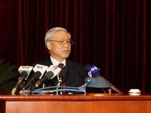 Tổng Bí thư Nguyễn Phú Trọng phát biểu khai mạc Hội nghị. Ảnh: Trí Dũng/TTXVN