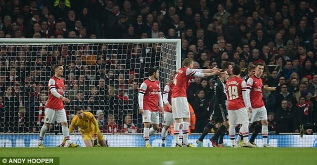Arsenal chơi một trận lúng túng