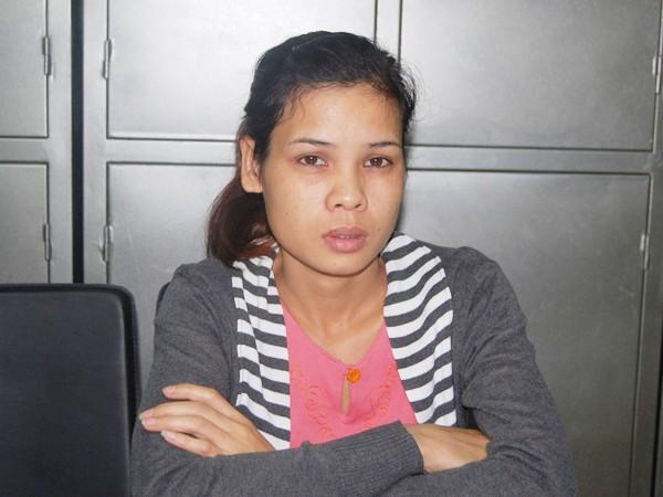 Đối tượng Nguyễn Thị Lệ tại cơ quan điều tra