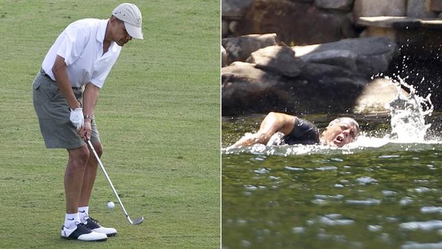 Dù không giỏi chơi Gofl nhưng ông Obama rất thích chơi bởi ở đây ông được hít thở bầu không khí trong lành. Còn ông Romney lại là người thích bơi