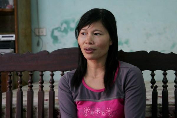 Chị Nguyễn Thị Kim Oanh - mẹ VĐV Lê Bích Phương: