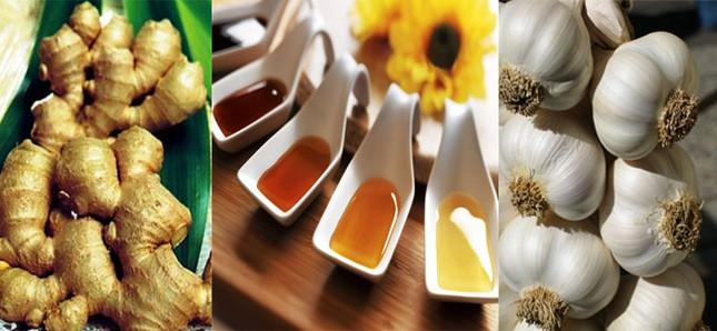 Gừng, mật ong và tỏi là những chất kháng sinh tự nhiên