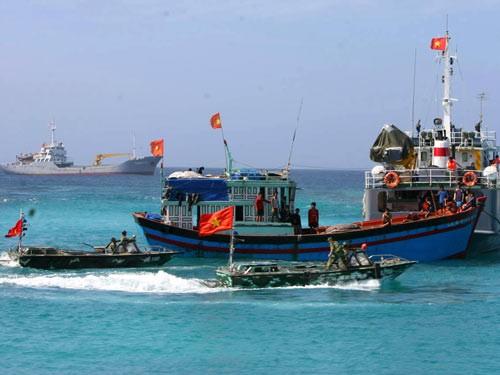 Tàu cá hoạt động trong vùng biển thuộc chủ quyền của Việt Nam.