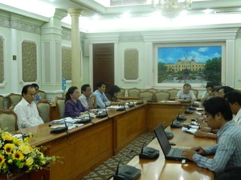 Phó Chủ tịch UBND TPHCM Lê Mạnh Hà làm việc với báo Tiền Phong, Lao động, Tuổi trẻ TPHCM