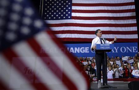 Ông Mitt Romney trong chiến dịch tranh cử cuối cùng tại Fairfax, bang Virginia hôm 5-11