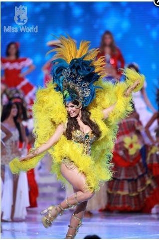 Các thí sinh trong trang phục dân tộc khai mạc Miss World 2010 ảnh 4