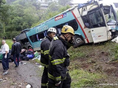 Chiếc xe bus trong vụ tai nạn