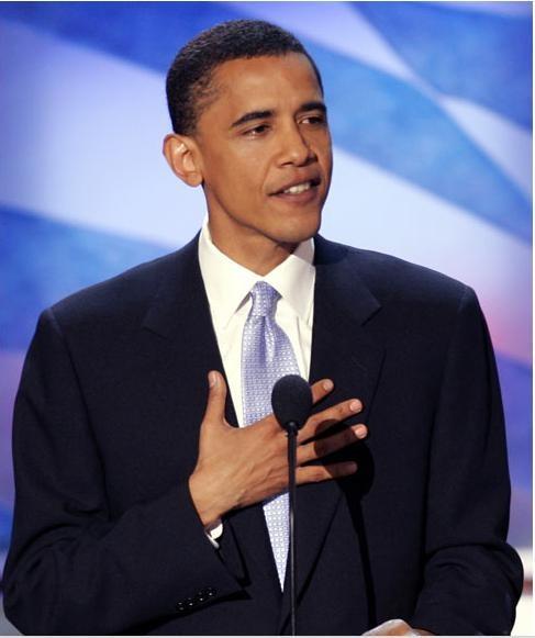 Ngày 27 tháng 7 năm 2004, ông Barack Obama trở thành ứng viên Thượng viện Mỹ