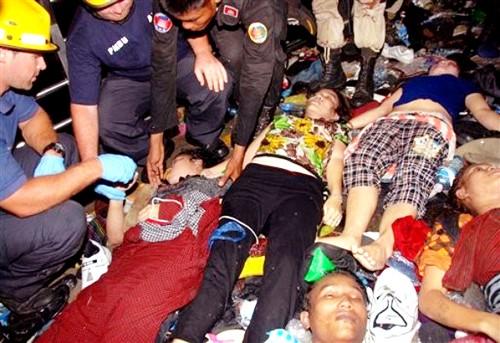 Theo thống kê ban đầu có gần 350 người chết, hàng trăm người bị thương