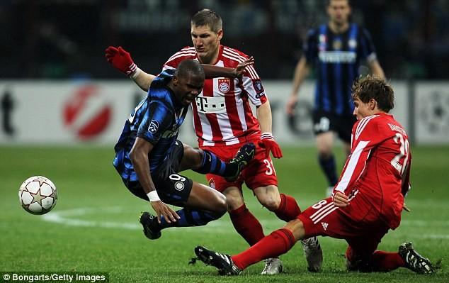 Eto'o của Inter đã bỏ lỡ nhiều cơ hội ở trận đấu này