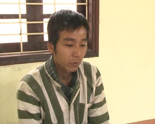 Nghi phạm Lê Văn Huy tại cơ quan điều tra - Ảnh: Trần Hồng