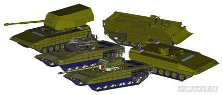 Model 3D các xe tăng, thiết giáp sử dụng thân xe Armata