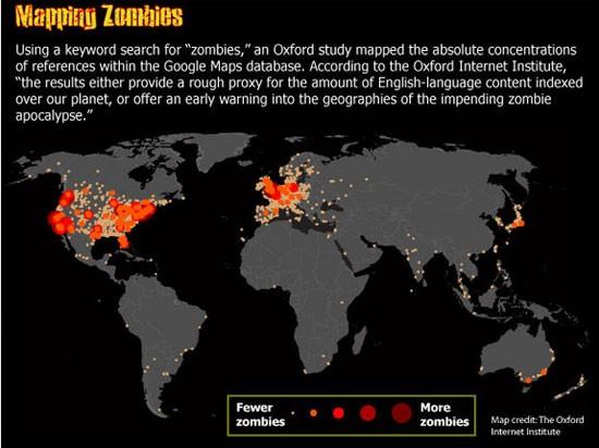 Bản đồ tham khảo Zombie do Viện Internet Oxford lập
