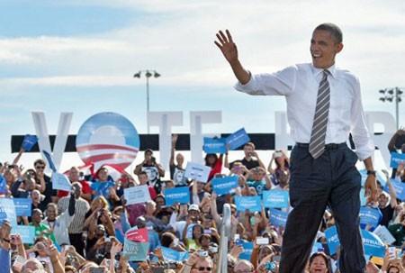 Tháng 10 năm 2012: Ông Obama tranh cử tổng thống Mỹ lần hai
