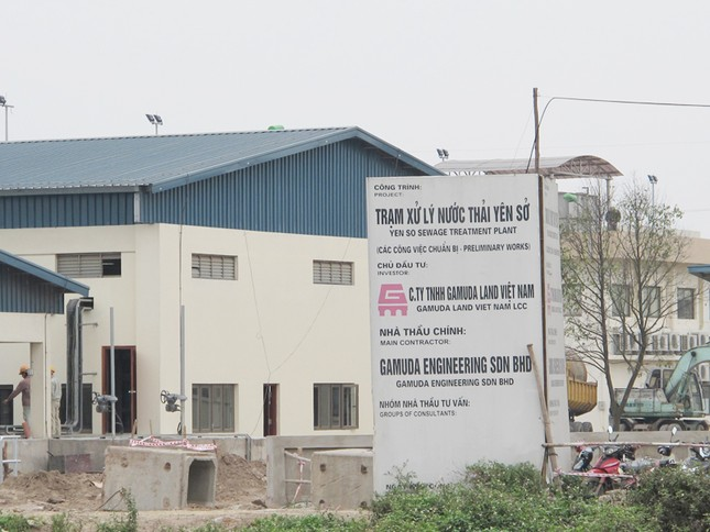 Nhà máy xử lý nước thải Yên Sở bị đội tổng mức đầu tư 67 triệu USD
