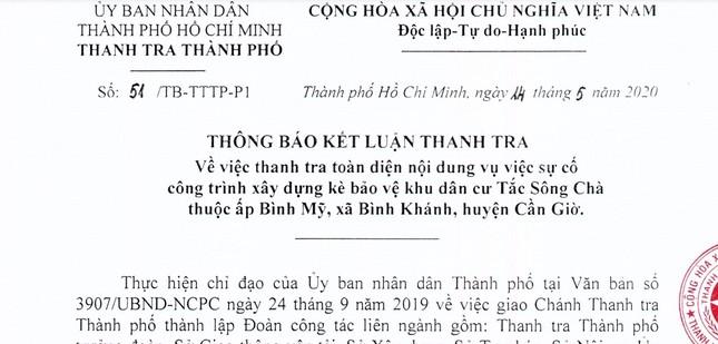 Sập kè Tắc Sông Chà, nguyên Phó Giám đốc Sở GTVT TPHCM bị kiểm điểm ảnh 1