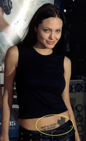 Những câu chuyện cuộc đời Angelina Jolie qua hình xăm ảnh 2