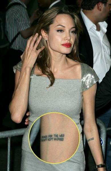 Những câu chuyện cuộc đời Angelina Jolie qua hình xăm ảnh 4