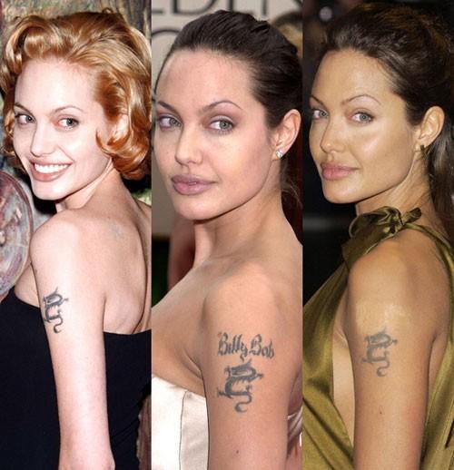 Những câu chuyện cuộc đời Angelina Jolie qua hình xăm ảnh 5
