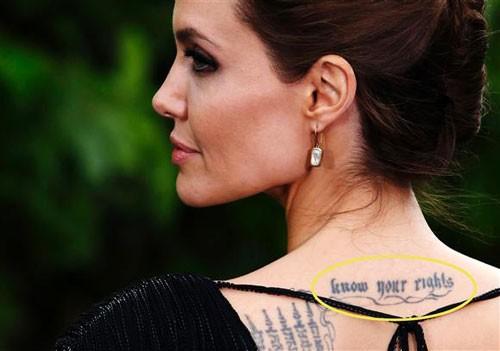 Những câu chuyện cuộc đời Angelina Jolie qua hình xăm ảnh 8