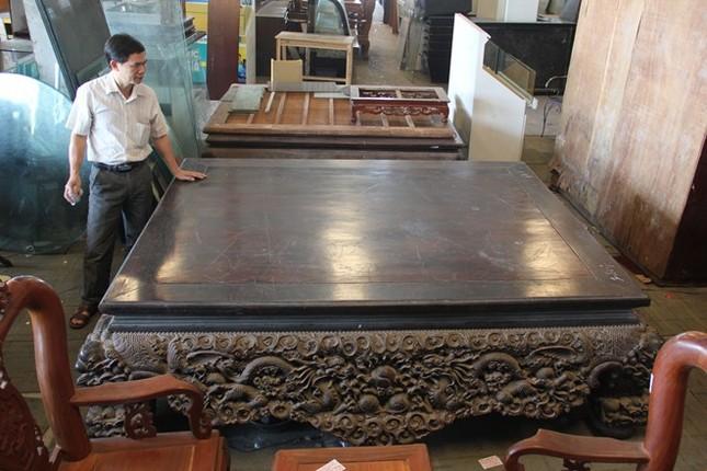 Sập gỗ trắc bạc tỷ của tay buôn đồ cũ Hà thành ảnh 1