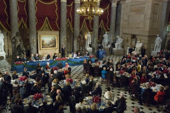 Bàn tiệc lễ nhậm chức qua các đời tổng thống Mỹ ảnh 11