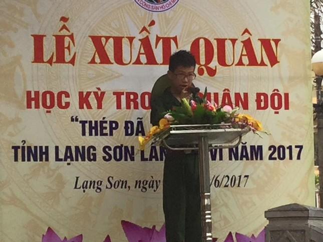 Lạng Sơn: Chiến sỹ nhí học kỳ Quân đội xuất quân ảnh 2