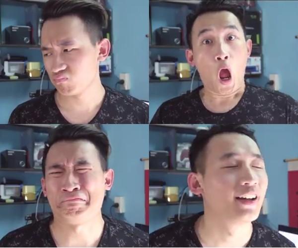 9x Hà thành có tài hát nhép, biểu cảm mặt sinh động hút triệu view ảnh 1