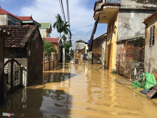 Làng biến thành 'sông' sau khi nước lũ tràn qua đê ảnh 6