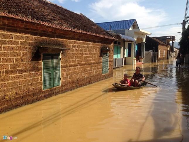 Làng biến thành 'sông' sau khi nước lũ tràn qua đê ảnh 9